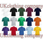 Fruit of the Loom 65/35 Plain Pique Polo T Shirt - Adult Short Sleeve Top