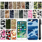"For Apple iPhone 7 Plus 5.5"" Camo Design HARD Back Case Phone Cover + Pen"