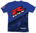 Suzuki GSXR Gixxer GSX-R Back Straight Short Sleeve T-Shirt Blue