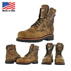 "Justin Brands Gaucho CD441 8"" Steel Toe Work Boots USA Made Wide Width Avail"