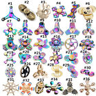 Tri Fidget Hand Spinner Triangle Alloy  Metal Colorful Finger Toy EDC Focus ADHD