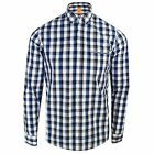 HUGO BOSS SHIRT ECLASH MENS BLUE WHITE CHECK LONG SLEEVE TOP