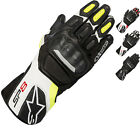 Alpinestars SP-8 v2 Leather Motorcycle Gloves Perforated Motorbike Touring Bike
