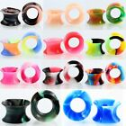 11 Pairs Multi-Color Silicone Ear Skin Tunnels Plugs Ear Gauges Earskin Earlets