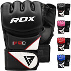 RDX MMA Grappling Handschuh Leder Kampfsport Thai Boxen Gloves Fight Handschuhe