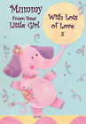 to for my mummy from your little girl birthday card - 2 x cards to choose from!