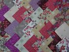 AUTUMN FIELDS ~ COTTON FABRIC CRAFT PATCHWORK SQUARES PIECES CHARM PACK 4 5 INCH