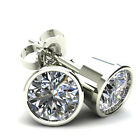 .75Ct Round Brilliant Cut Natural Quality Diamond Stud Earrings In 14K Gold