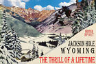 JACKSON HOLE WYOMING SKI JUMPING THRILL OF A LIFETIME SPORT VINTAGE POSTER REPRO