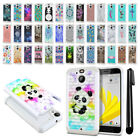 "For HTC Bolt / 10 Evo 5.5"" Anti Shock Studded Bling HYBRID Case Cover + Pen"