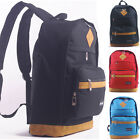 Fashion Style Women Nylon Cow Leather Backpack Men Laptop School Shoulder Bags