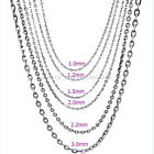 1mm 1.5mm 2mm 3mm Stainless Steel Chain Mens Womens Rolo Link Chain Necklace