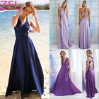 US Womens Party Dress Convertible Multi Way Wrap Bridesmaid Formal Long Dresses
