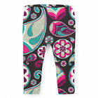Sassy Paisley Kids Leggings Full Length High Waist