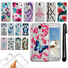 For LG Aristo MS210 LV3 K8 M150 Fortune Ultra Thin Clear TPU Case Cover + Pen
