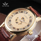 New Transparent Stainless Steel Mens Automatic Mechanical Wrist Watch Roman