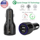Car Charger Dual USB Qualcom 3.0 Quick Fast Charge Car Charger & Micro USB Cable