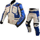 ARMR Moto Tottori Evo 2 Motorcycle Jacket & Trousers Stone Blue Kit Waterproof
