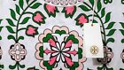 New Tory Burch VIENNA TEE Top M L XL Prep Pink Green Floral LILLY Garden Party