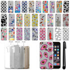 For Apple iPhone 6 Plus 5.5 inch Slim Sparkling Silver TPU Case Cover + Pen
