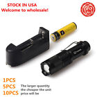 Vander 5000LM Q5 LED Flashlight durable Focus Torch +18650 Battery+Charger * }