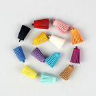 10pcs Faux Suede Leather Tassel Charms Pendant For Keychain Earring Bag 29mm