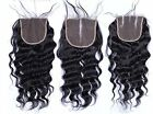 Brazilian Loose Wave Bleached Knots Human Hair 130% Density 4x4 Lace Closure