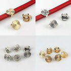 10/20pcs Spiral Swirl 10x6.3mm Spacer Slider Beads Fits Licorice Leather Cords