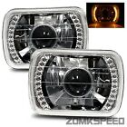 1987-1991 Volkswagen Fox 7X6 H6014/H6052/H6054 Chrome Crystal Square Projecto...