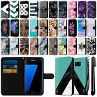 For Samsung Galaxy S7 Edge G935 Ultra Slim Canvas Cover Case Credit Card + Pen