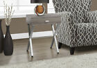 Monarch Specialties  Accent Table-Dark Taupe/Chrome Metal
