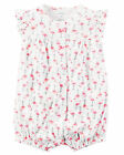 Carters 6 12 18 Months Flamingo Romper Sunsuit Baby Girl Clothes White Pink
