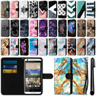 For HTC Desire 626 626S Ultra Slim Canvas Wallet Case Cover w/ Credit Card + Pen