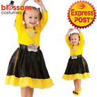 CK962 Deluxe Emma Yellow The Wiggles Book Week Fancy Dress Girls Toddler Costume