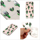 Soft Gel Relief TPU Case For CelePhones Frosted Rubber Cover Cactus Luxury Green