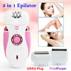 3in1 Rechargeable Electric Foot Callus Remover Hair Epilator Lady Shaver Kit 92