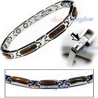 ACCENTS KINGDOM WOMENS TIGER'S EYES STAINLESS STEEL MAGNETIC GOLF BRACELET