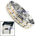 ACCENTS KINGDOM MENS STAINLESS STEEL MAGNETIC GOLF BRACELET EXTRA WIDE