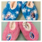 AUTHENTIC DISNEY FROZEN SLIPPERS BLUE & PINK SIZES 7-13