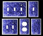 BLUE HEARTS AND BUBBLES LIGHT SWITCH COVER PLATE