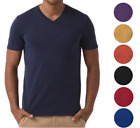 New Lacoste Men's Premium Cotton V-Neck Shirt T-Shirt Slim Fit Vintage Wash