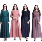 Women Lace Dress Dubai Cocktail Abaya Arab Muslim Kaftan Maxi Long Dress