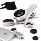 Fish Eye+Wide Angle+Macro Clip-on Camera Lens for Samsung S8/Plus iPhone 7/Plus