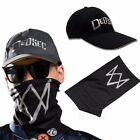 Watch Dogs 2 Marcus Holloway Black Cap Hat +Face Mask Cosplay Custome