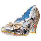 Irregular Choice Stage Left Womens Beige Synthetic Casual Shoes Slip-on