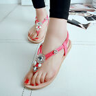 New Summer Ladies Thong Flip Flops Sandals Flat Slippers Girl Beach Casual Shoes