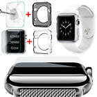 Apple Watch 1/2 TPU Clear Slim Case Soft Cover + Tempered Glass for iWatch 42/38
