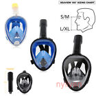 180° View Full Face Snorkel Mask Swimming Diving Scuba Mask with Mount for GoPro