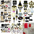 2018 Happy New Year's Eve Party Supplies Card Masks Photo Booth Props Decoration