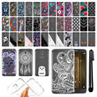 For Alcatel Fierce 4 Allura 5056 Ultra Thin Clear TPU Case Phone Cover + Pen
